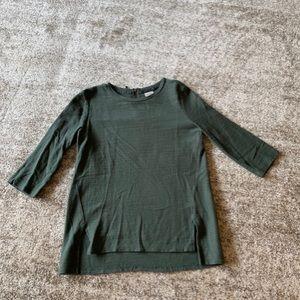 Hunter green 3/4 sleeve